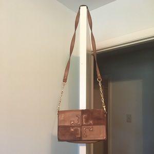Tory Burch faux suede/leather purse/clutch